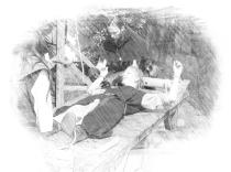 Streckbank Folterband Folterleiter Folter Inquisition